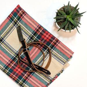 A/X ARMANI EXCHANGE Black + Tan Leather Belt
